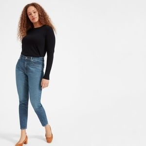 Everlane High Rise Skinny Ankle Jean in Mid Blue
